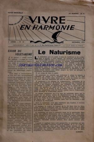 VIVRE EN HARMONIE [No 10] du 01/12/1953