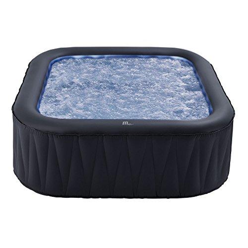 Spa gonflable carré TEKAPO - 6 places - anthracite/intérieur bleu - Nouveau modèle 2018