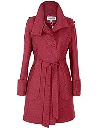 c4866419da4f BN BININBOX® Fashion Damen Mantel Wollmantel Kaschmir Lang mit Gürtel Jacke  Winter Trenchcoat…