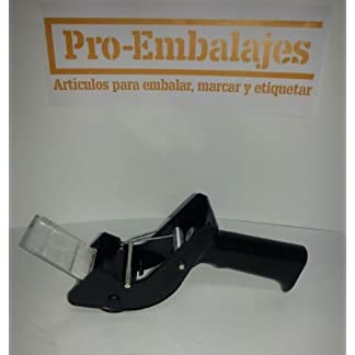 Aplicador manual CON PALANCA DE SUJECCION DEL ROLLO. Para cinta adhesiva de hasta 50mm. de ancho, fabricada en metal y plástico de alta resistencia. Seguro, fiable y ligero.