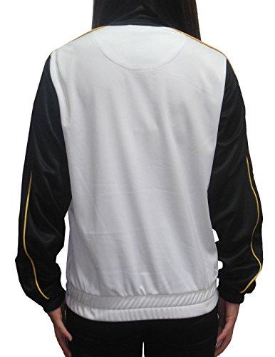 MLB Pittsburgh Pirates Damen Zip-Up Trainingsjacke mit gesticktem Logo Black & White