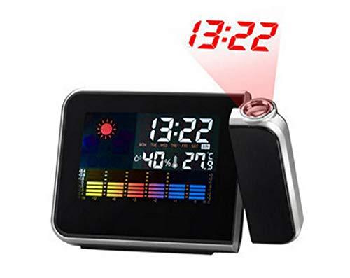Preisvergleich Produktbild Projektionswecker mit USB-Aufladung,  Digitale Projektion,  Hintergrundbeleuchtung,  LED-Display,  Projektionswecker AM-NZ012