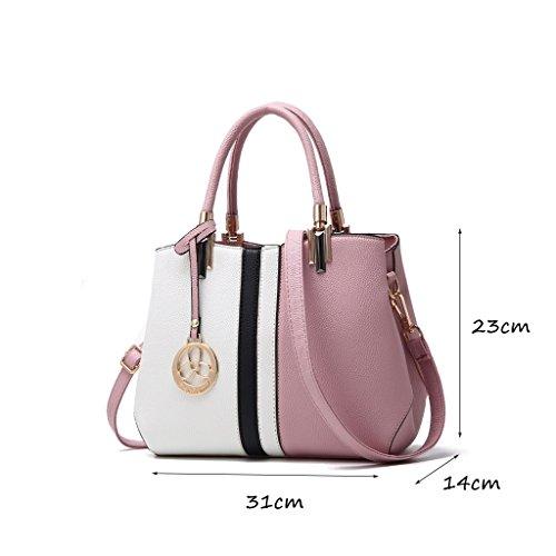 CLOTHES- L'Europa e le borse del sacchetto delle signore di modo di modo degli Stati Uniti La borsa del messaggero della spalla di modo di personalità selvaggia ha colpito il sacchetto di colore del s Light pink