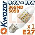 Super Led Smd Lampe 36p E27 54w Ersetzt 55w Birne Warmweiss 520lm Hohe Qualitt von Kwazar
