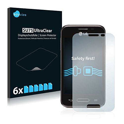 6x Savvies Protector Pantalla para LG L40 D160 (One Sim)Protector Transparente
