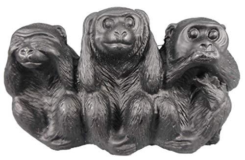 Buddha & Ganesha die 3 Affen Nichts hören sehen Sagen je 5 x 8 cm AFFE China Figur Tier Deko GDET C016