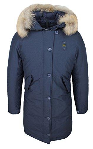 Parka donna blauer 15wbldk0319 blu giacca impermeabile invernale neve in piuma d'oca (xl)