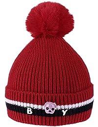 81ec2688266 Innersetting Newborn Baby Kids Boys Girls Warm Hat Winter Cute Dog Beanie  Fur Pompon Cap