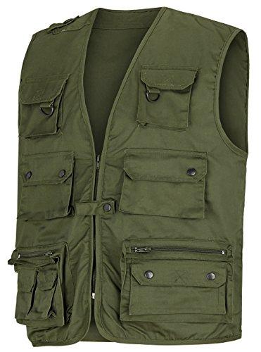 noorsk Angler- Outdoorweste mit vielen Taschen in verschiedenen Farben Oliv XL