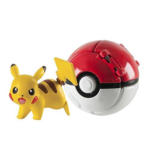 Pokèmon - Figura Throw N'Pop de Pikachu & Poke Ball (Bizak 30698873)