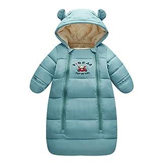 Saco de dormir para bebés 3 Tog, Recién Nacido Mangas Largas con Capucha Mameluco Invierno Frente de Cremallera