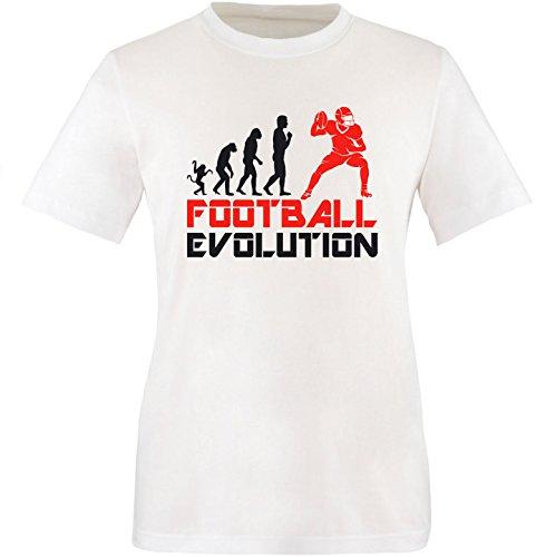 EZYshirt® Football Evolution Herren Rundhals T-Shirt Weiss/Schwarz/Rot