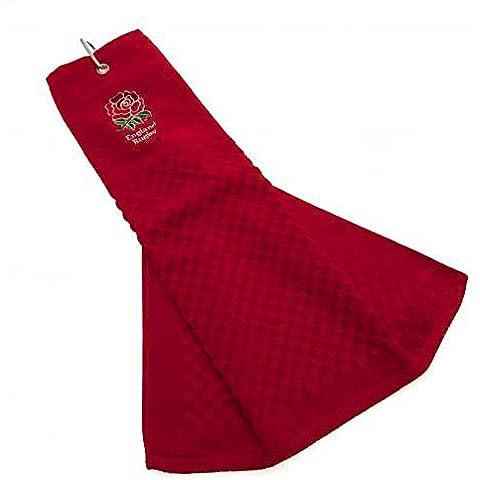 Inghilterra RFU Ufficiale Rugby Regalo Tri-Fold asciugamano da golf, un ottima idea regalo di natale/Compleanno per uomini e ragazzi