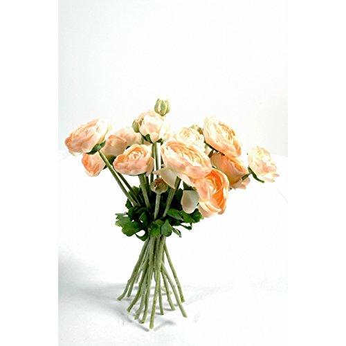 bouquet artificiel renoncules pÊche- h : 31