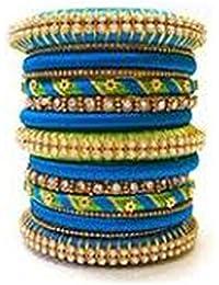 Sugumar Fancy Silk Thread Bangle Set For Women (Size: 2.8, Sugumar Fancy Silk Thread 1--2.8) - B078BPNZ7C