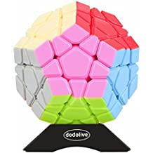 Dodolive Stickerless Megaminx Magic Cube Multicolor Funny Puzzle Gift Educational Toys