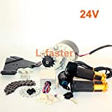 L-faster 24V250W Vélo électrique Kit Moteur Gauche Kit Moto Kit vélo de Montagne Kit de Moteur électrique personnalisé pour vélo Suspendu (Twist Throttle)