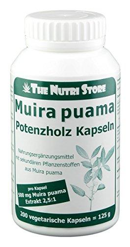 Muira puama 500 mg Extrakt pro Kapsel - 200 Stk.