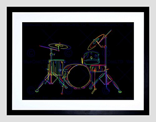 multcoloured-drum-set-drums-drawing-stick-black-framed-art-print-b12x9394