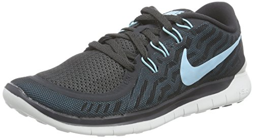Nike  Free 5.0, Running femme - Gris - Grau (Pr Platinum/Blk-Wlf Gry-Cl Gry 003), 35.5 Gris (Anthracite/Copa-Black-Bl Lgn 009)