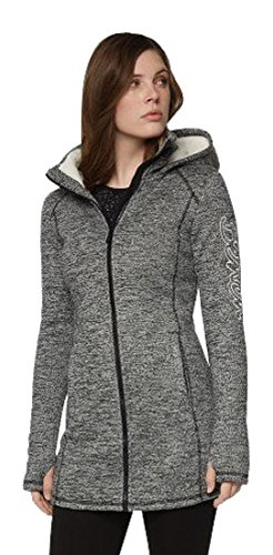 Bench Damen Lange Strick-Fleecejacke Strickjacke, Black, S