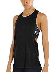 icyZone Yoga Tops Workout Oberteile Sports Locker Racerback Tank Top für Damen
