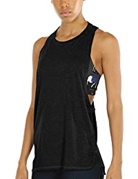 531dae63747 icyzone Women s Yoga Tank Tops Activewear Workout Clothes Racerback Sports  Shirts