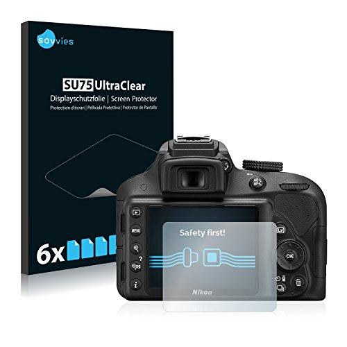 6x-savvies-pellicola-protettiva-per-nikon-d3300-protezione-proteggi-schermo-trasparente