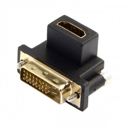 Hdtv Digital Flat-panel (chenyang 90Grad nach unten abgewinkelt DVI Stecker auf HDMI Buchse Drehbarer Adapter für Computer & HDTV & Grafikkarte)