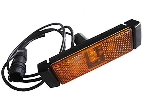 Hella LED-Seitenmarkierungsleuchte Seiten LKW Markierungs Leuchte 24V 110x40mm