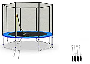 LS-T305-PA10 (BA) LifeStyle ProAktiv - Trampoline de Jardin - 305 cm - 10ft - Fort Filet de Sécurité - 180kg Capasite - TÜV/GS/CE - Model 2017