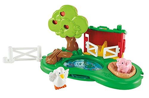 Mattel Fisher-Price Y8199 - Little People Teich und Schweinestall