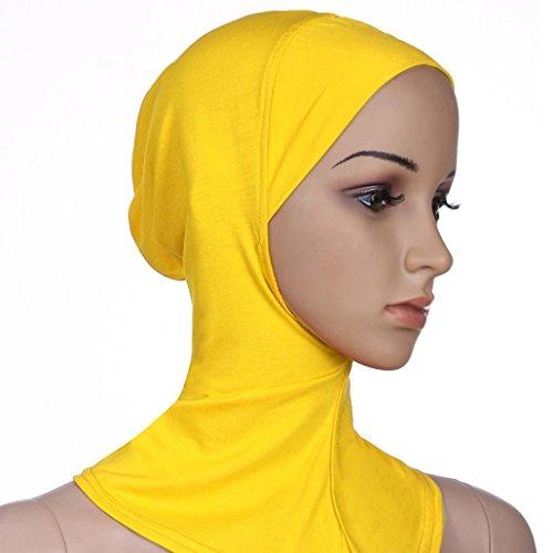 Sombrero de algodón con cabeza de turbante para mujer de Turquía amarillo amar...