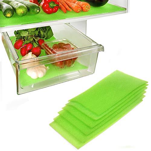 Dualplex Fruit & Veggie Life Extender Kofferraumwanne für Kühlschrank Schubladen (6Pack)-verlängert die Lebensdauer Ihrer erzeugen & verhindert Verderb, 15,2x 41,9cm Life Extender
