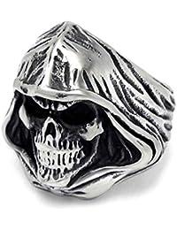 d7771c035873 YBMEN Acero Anillo de la joyería de Titanio Inoxidable de los Hombres Egipto  Anillo gótico Skull
