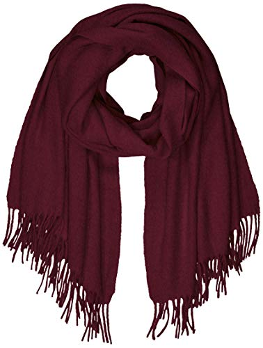 PIECES Damen PCJIRA WOOL SCARF NOOS Schal, Rot Winetasting, One Size