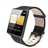 CCDYLQ Smart Watch-Bluetooth Smart Bracelet Fitness Tracker mit Herzfrequenz-Aktivität Tracking Sleep Monitoring Wasserdicht Anti-Theft und kompatibel mit IOS8.2 und Android 4.4,D