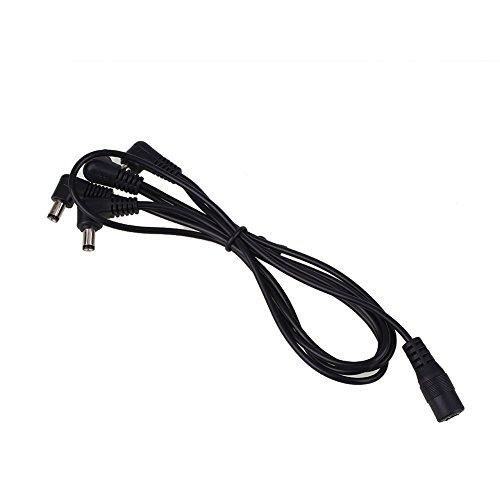 Forfar 1 bis 4 Way Gitarreneffekte Pedal Power Supply Kabel Schnur Linie DC9V Adapter Stecker Daisy Chain Schwarz
