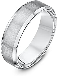 Theia Palladium 950 - Heavy Weight, Matt and Polished, 6mm Wedding Ring