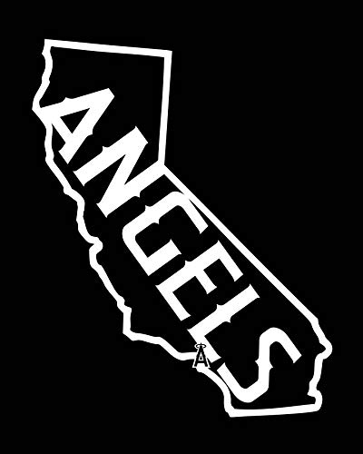 CELYCASY La Anaheim Angels California Logo Vinyl-Aufkleber - Autofenster-/Stoßstangen-Aufkleber - Computer-Aufkleber -