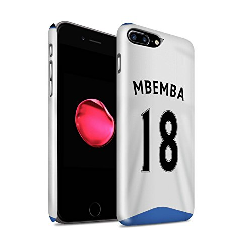 Offiziell Newcastle United FC Hülle / Glanz Snap-On Case für Apple iPhone 7 Plus / Anita Muster / NUFC Trikot Home 15/16 Kollektion Mbemba