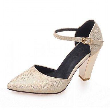 RUGAI-UE Estate Moda Donna Sandali Casual PU scarpe tacchi comfort,rosso,US5.5 / EU36 / UK3.5 / CN35 Beige