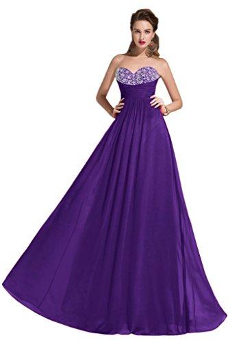 Sunvary Empire vita Gorgeous Chiffon Prom Pageant abiti da donna, collezione 2015 Purple