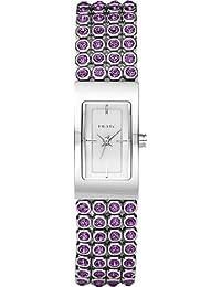 DKNY NY8049 - Reloj de pulsera analógico para mujer (mecanismo de cuarzo), color plateado y morado