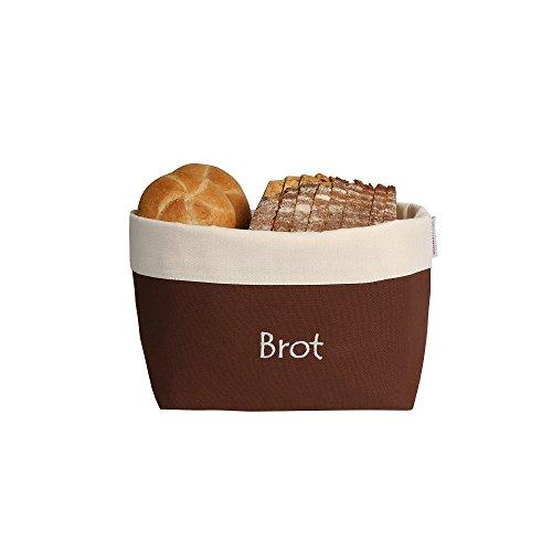 Brotbeutel zur Aufbewahrung und Brotkorb in einem, atmungsaktiv und dekorativ 31 cm x 35 cm. 30° In braun natur