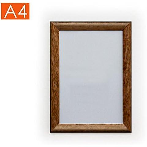A4per poster, colore: quercia effetto legno–Risparmio di, Alluminio metallo, Oak, (Oak Poster)