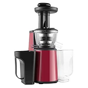 oneConcept Jimmie Andrews SlowJuicer Estrattore di Succhi 400W Rosso - 2021 -