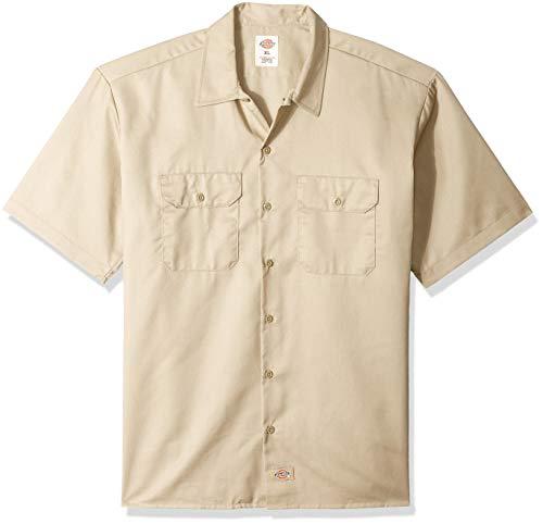Dickies Herren Regular Fit Freizeit Hemd Shrt/S Work Shirt, Kurzarm, Beige (Khaki KH), Gr. Large (Herstellergröße: L)