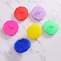 ZZbaixinglongan Novelty 1pc Plastic Shampoo Washing Hair Massager Combs Scalp Shower Body Beard Shampoo Brush Hair Styling Tools random color in fine style(None Color random)