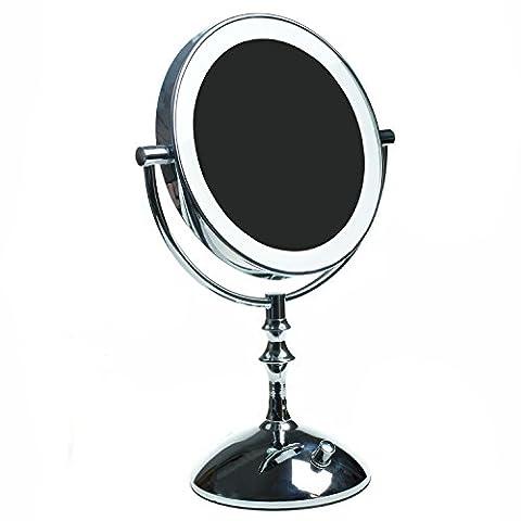 Miroir Grossissant 8 Fois - HIMRY LED 8 Pouces Lumineux Miroir mince